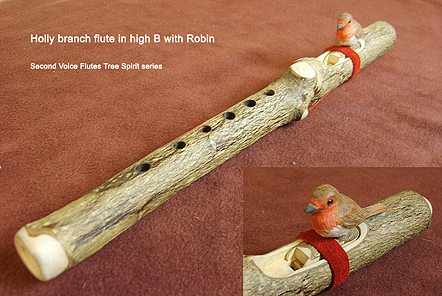 Holly Branch flute in B with Robin block