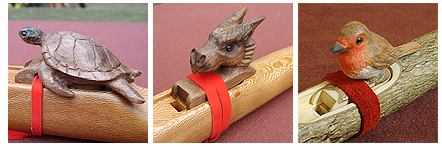 Dragon Turtle and Robin blocks for Native American Flute