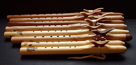 Native American style and English flutes hand-crafted by Second Voice Flutes