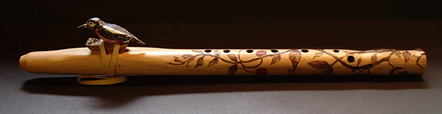 Oak 7 hole woodpecker flute in G