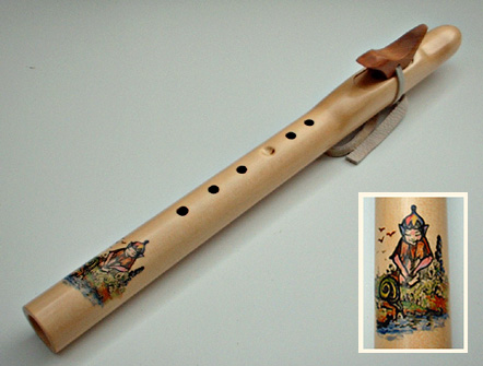 Wren and elf flute in yellow cedar